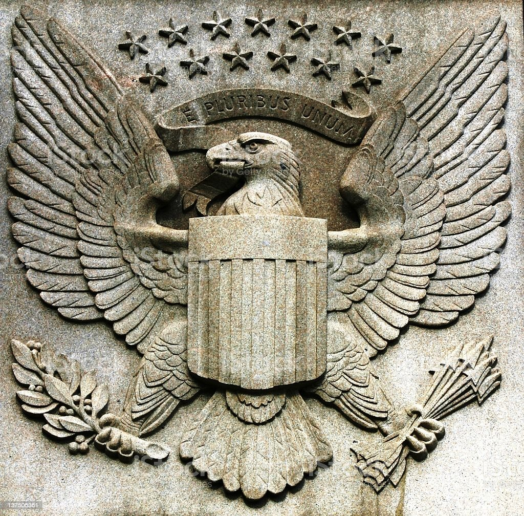 Great Seal of the United States royalty-free stock photo