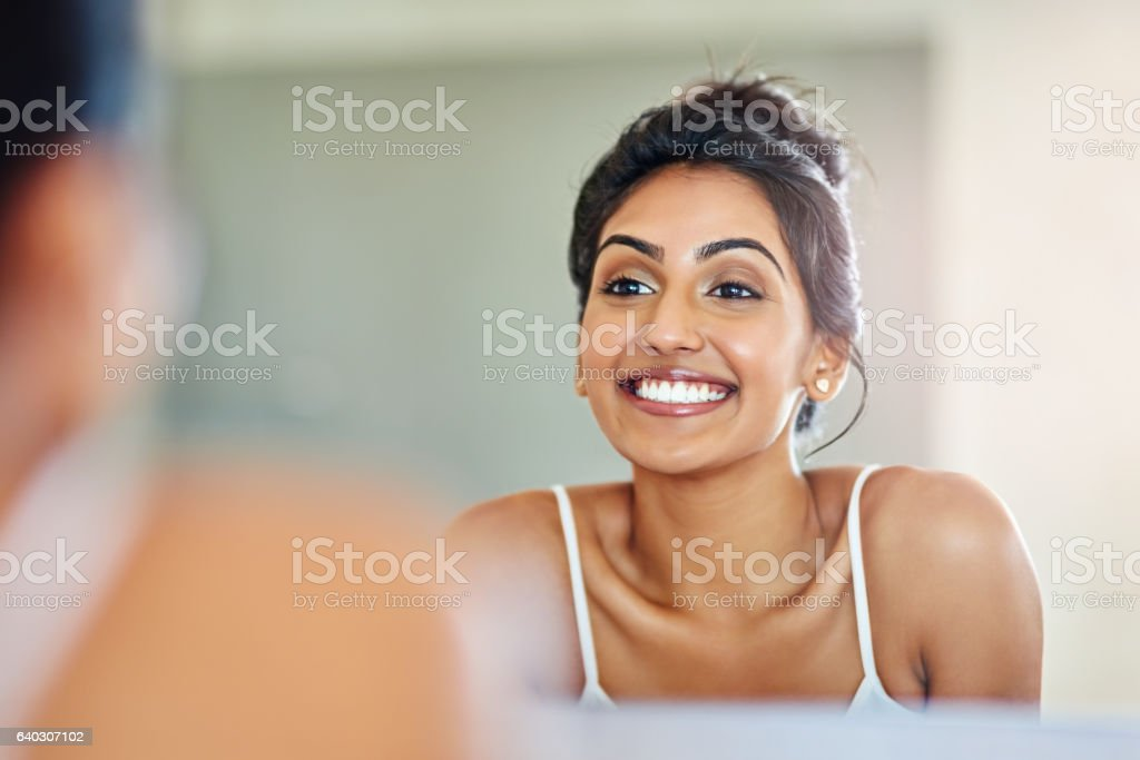 Great skin can put anyone in a good mood stock photo