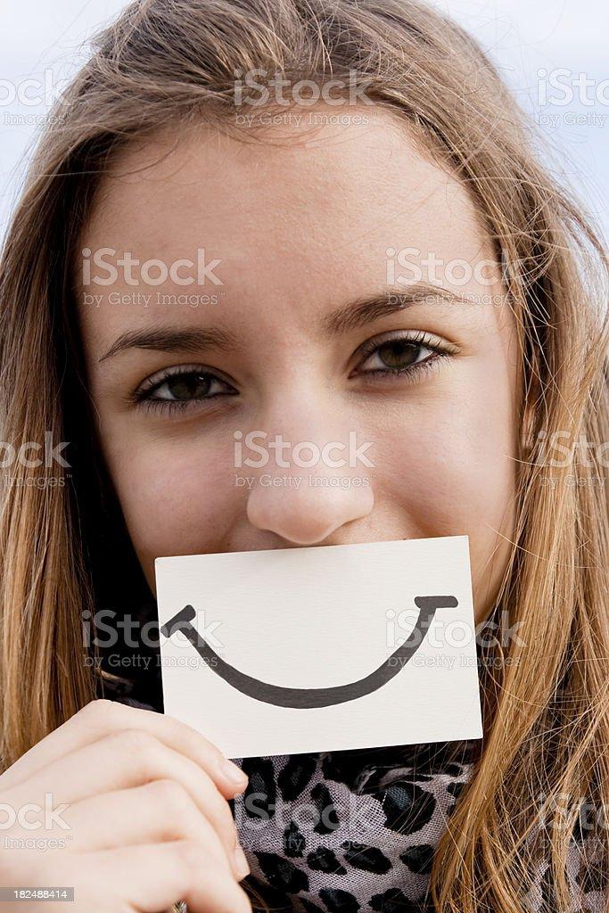 Great smile stock photo