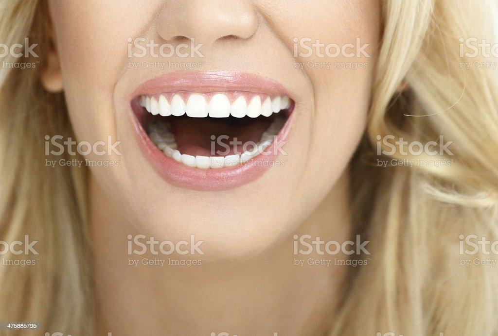 Great smile. stock photo