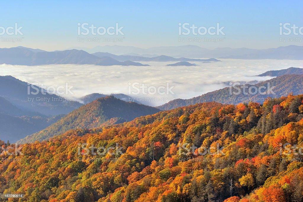 Great Smokey Mountains Vista royalty-free stock photo