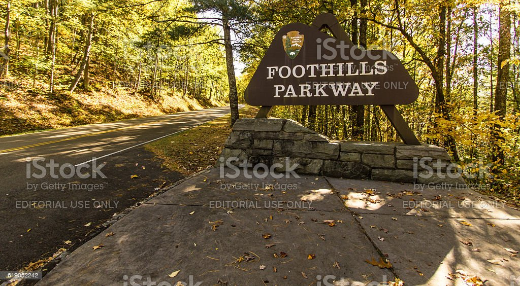 Great Smoky Mountains Foothills Parkway stock photo