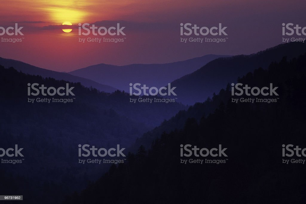 Great Smoky Mountains from Morton Overlook royalty-free stock photo