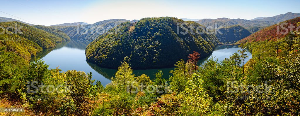 Great Smoky Mountains National Park, Calderwood Lake stock photo