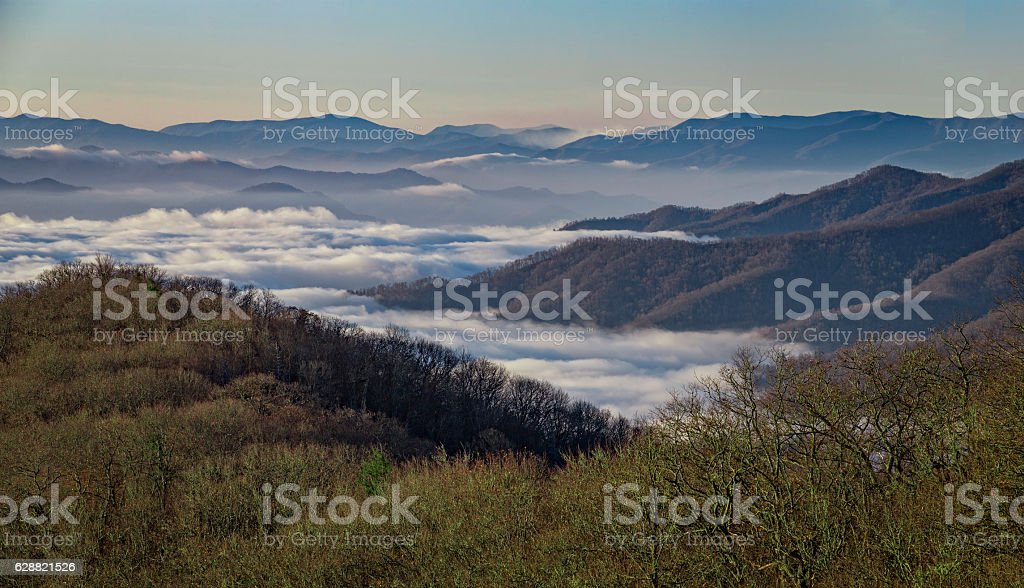 Great Smoky Mountains National Park, from Newfound Gap Road stock photo