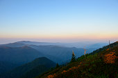 Great Smoky Mountains National Park landscape viewed from Mt. LeConte