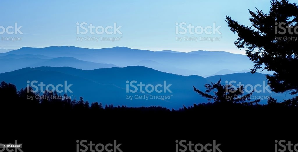 Great Smoky Mountains National Park Panoramic royalty-free stock photo