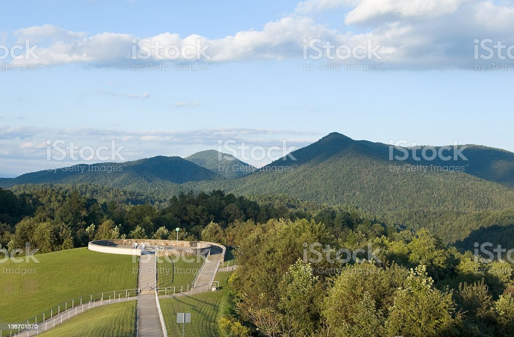 Great Smoky Mountains Observation Point royalty-free stock photo