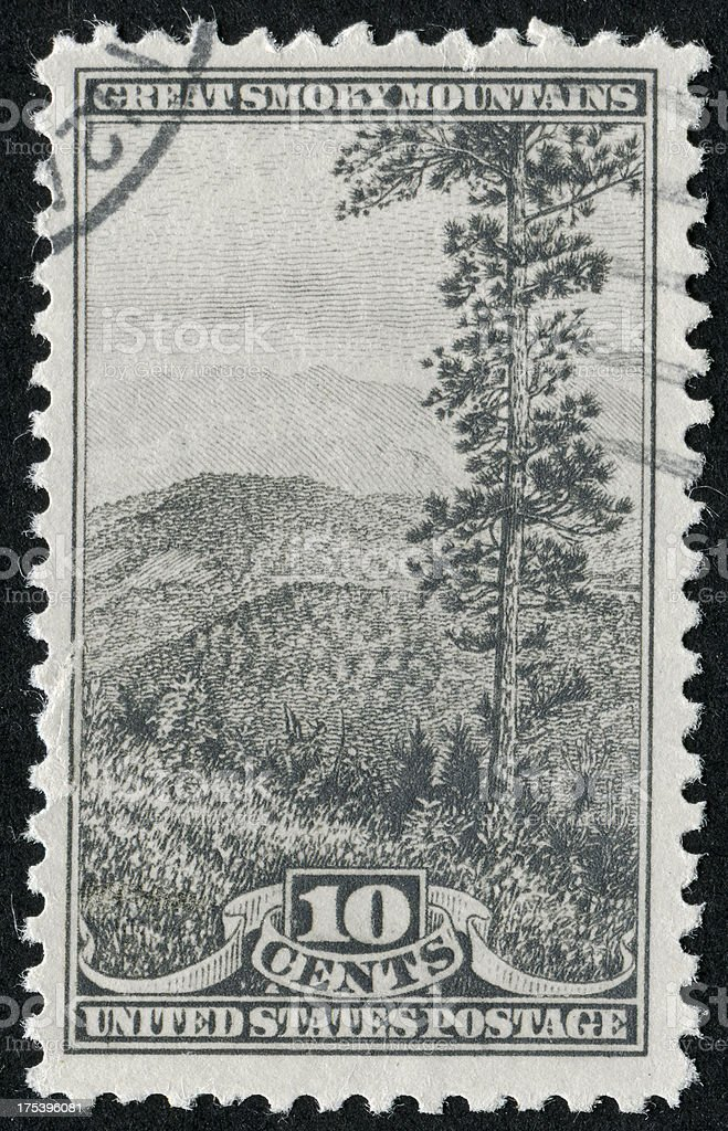 Great Smoky Mountains Stamp royalty-free stock photo