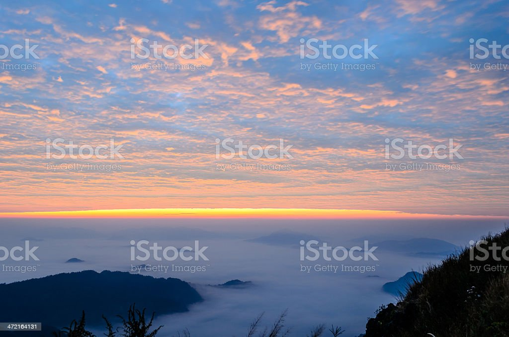 Great Smoky Mountains Sunrise Landscape stock photo
