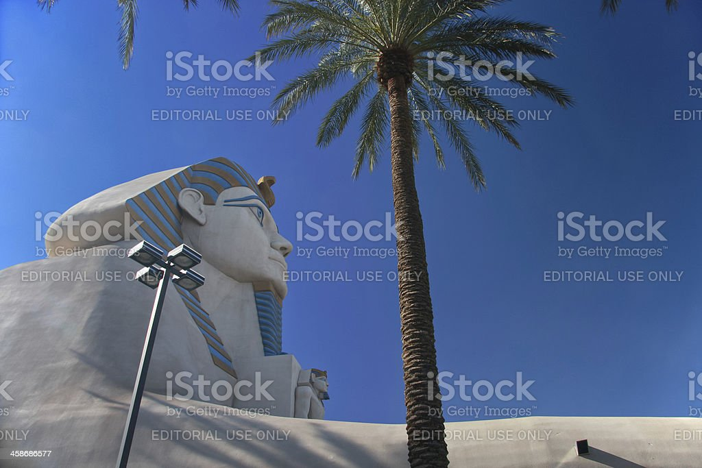 Great Sphinx of Giza at the Luxor hotel stock photo