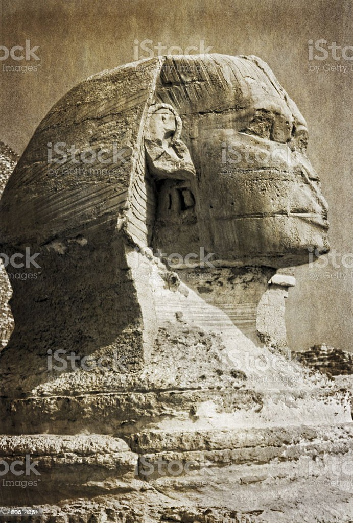 Great Sphinx of Giza royalty-free stock photo