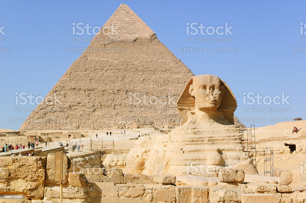 Great Sphinx of Giza stock photo