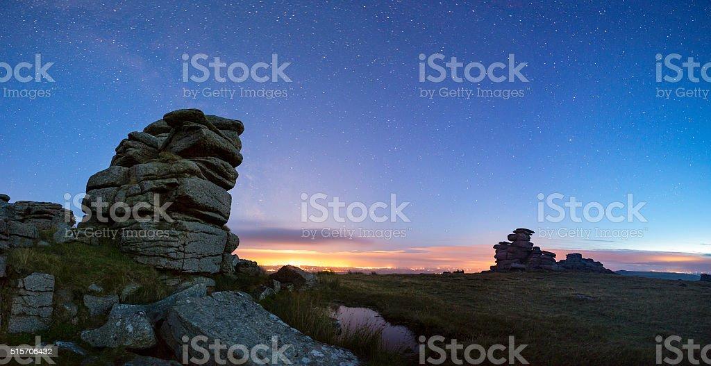 Great Staple Tor  Dartmoor stock photo