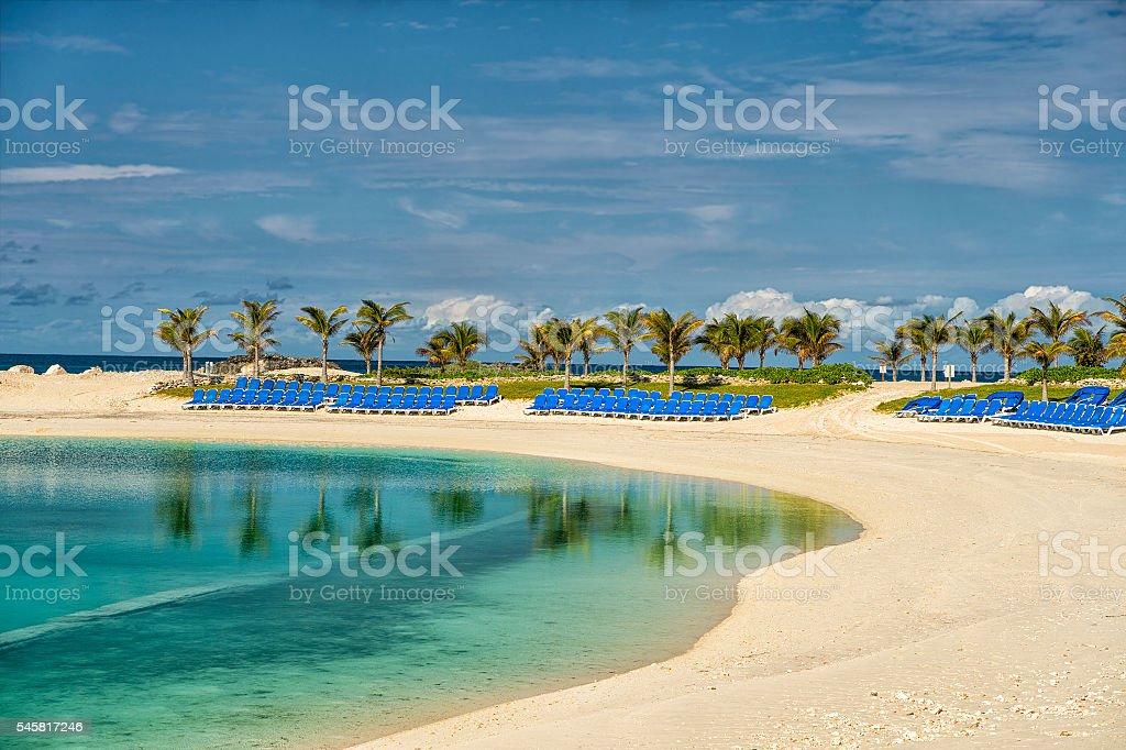 Great Stirrup Cay beach stock photo