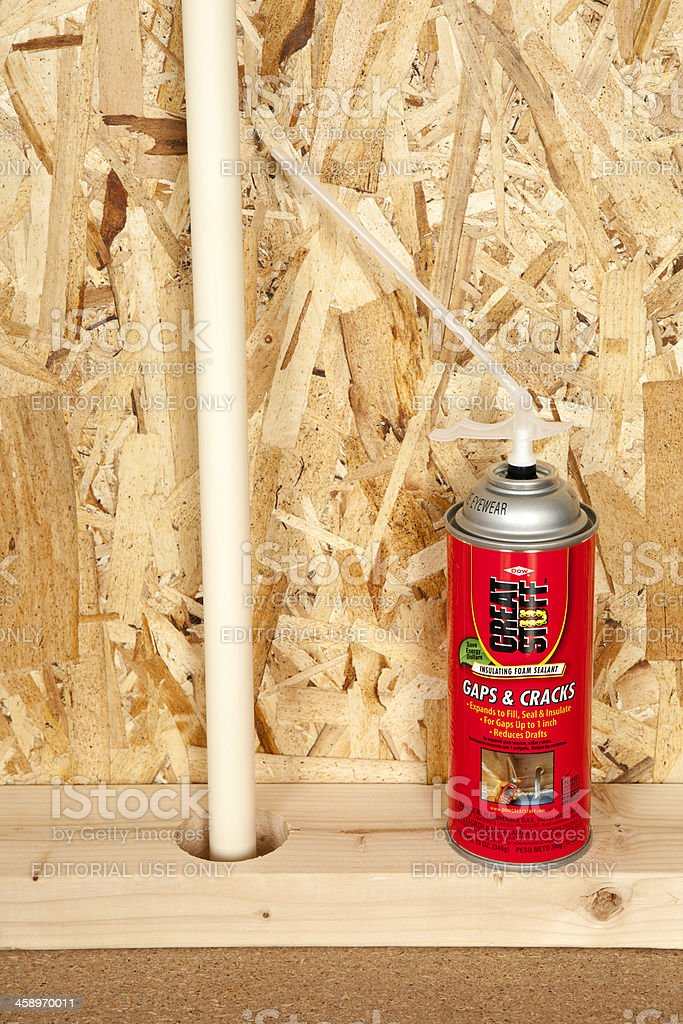 Great Stuff Insulating Foam Sealant stock photo