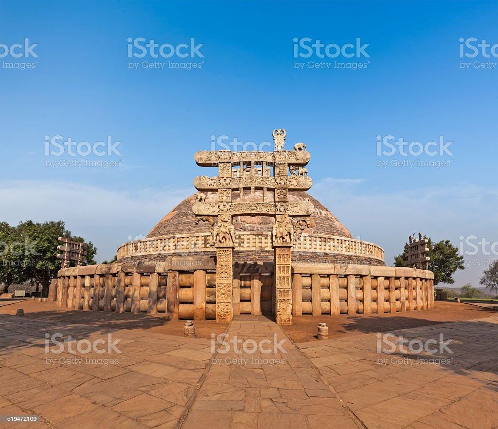 Great Stupa. Sanchi, Madhya Pradesh, India stock photo