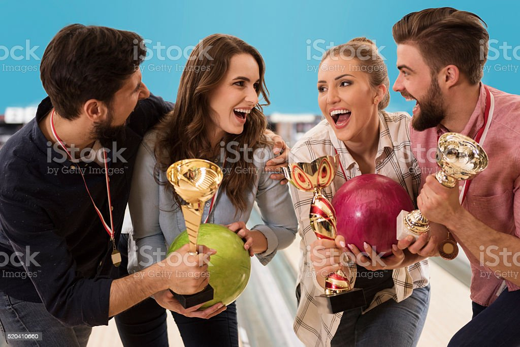 Great success of best friends stock photo