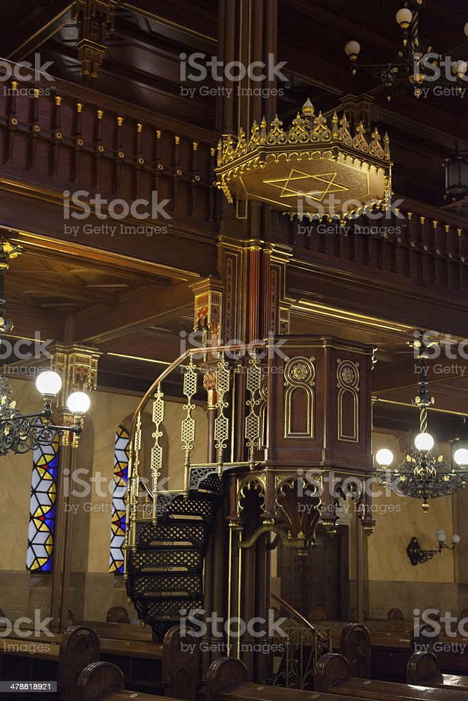 Great Synagogue in Budapest, Hungary stock photo