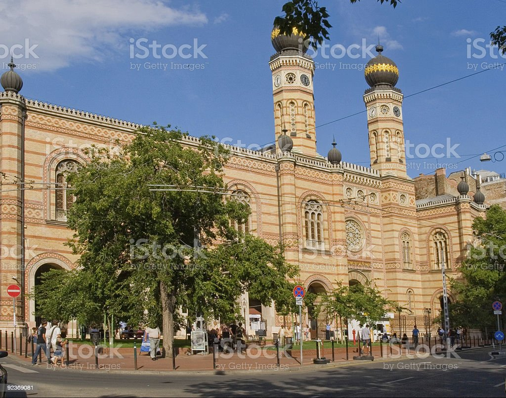 Great Synagogue in Budapest royalty-free stock photo
