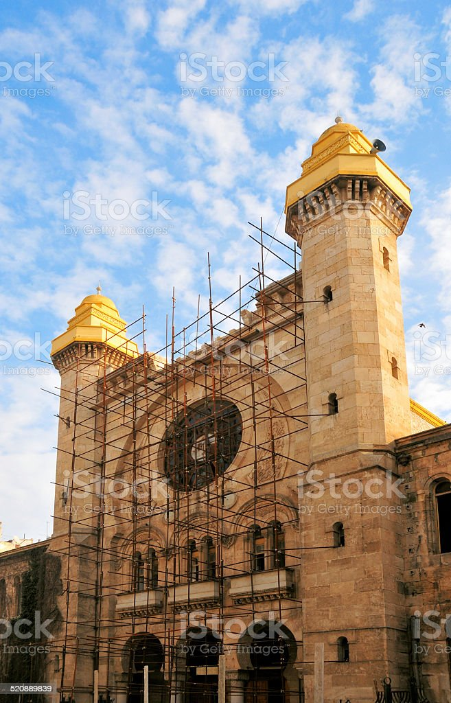 Great Synagogue of Oran, Algeria stock photo