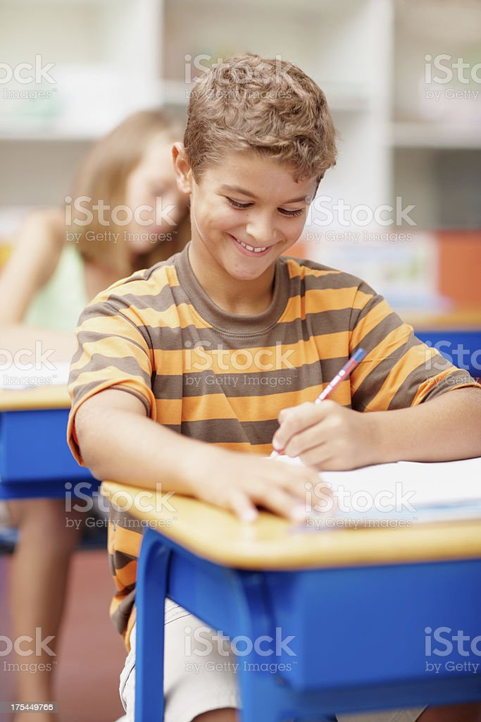 Great teachers inspire positive students like him royalty-free stock photo