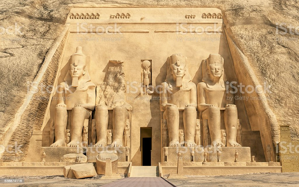 Great temple of Abu Simbel in Egypt stock photo