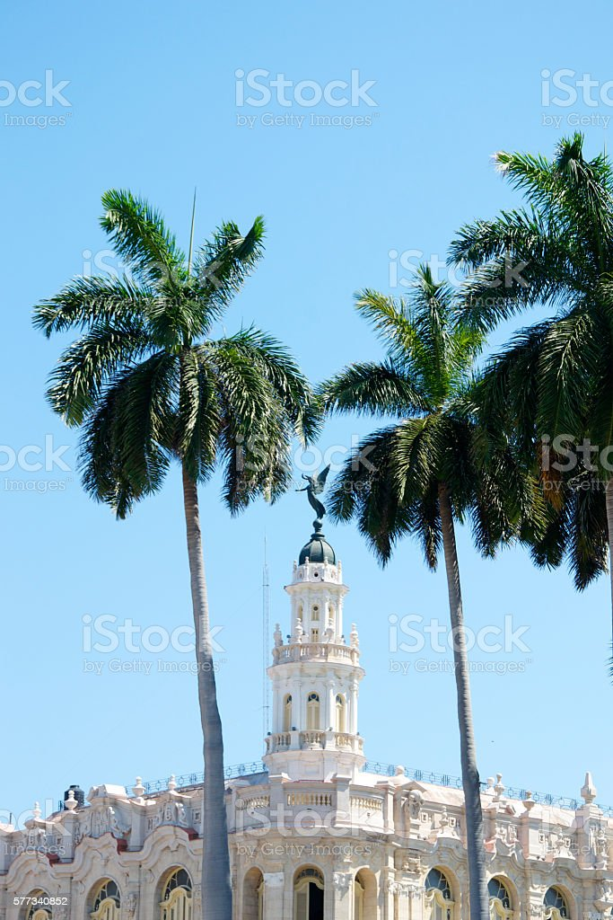Great Theatre of Havana stock photo