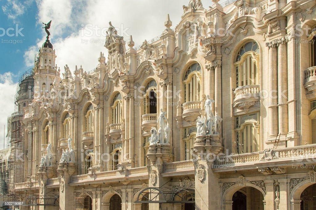 Great theatre of Havanna, Cuba stock photo
