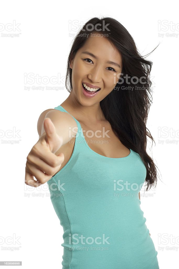 Great! Thumbs up royalty-free stock photo