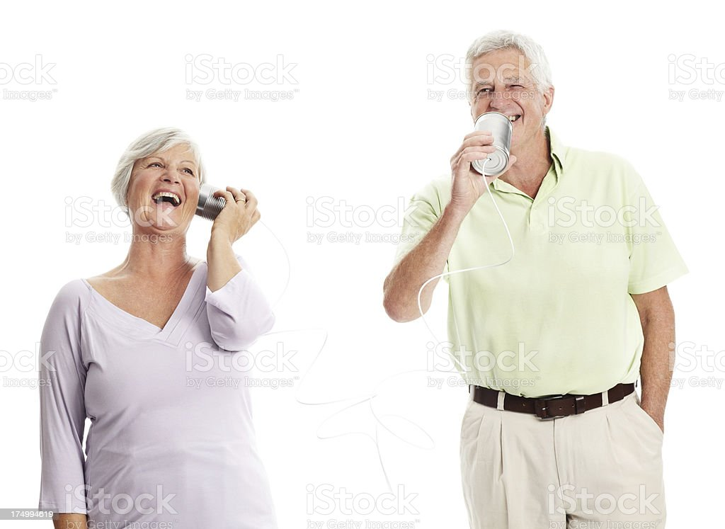 Great to hear your voice royalty-free stock photo