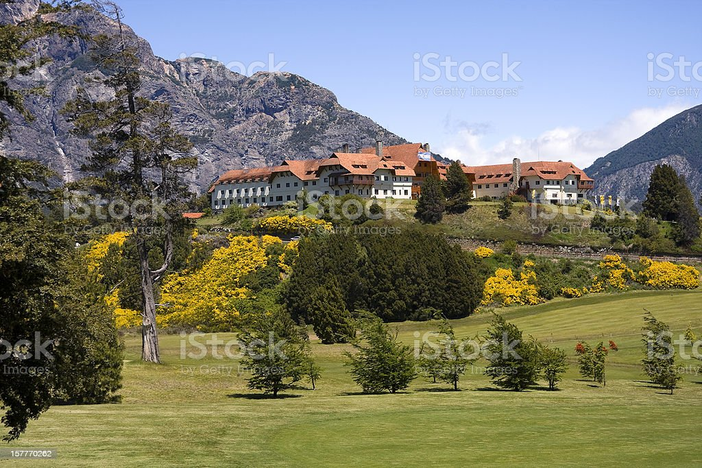Great tourist residence in Bariloche stock photo