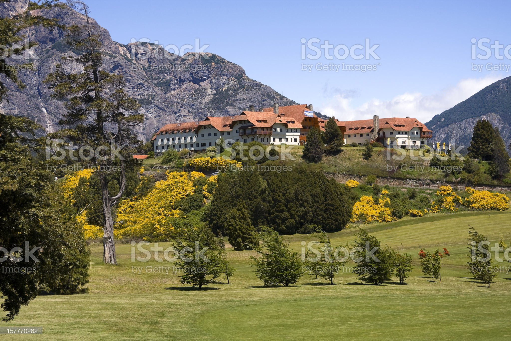 Great tourist residence in Bariloche royalty-free stock photo