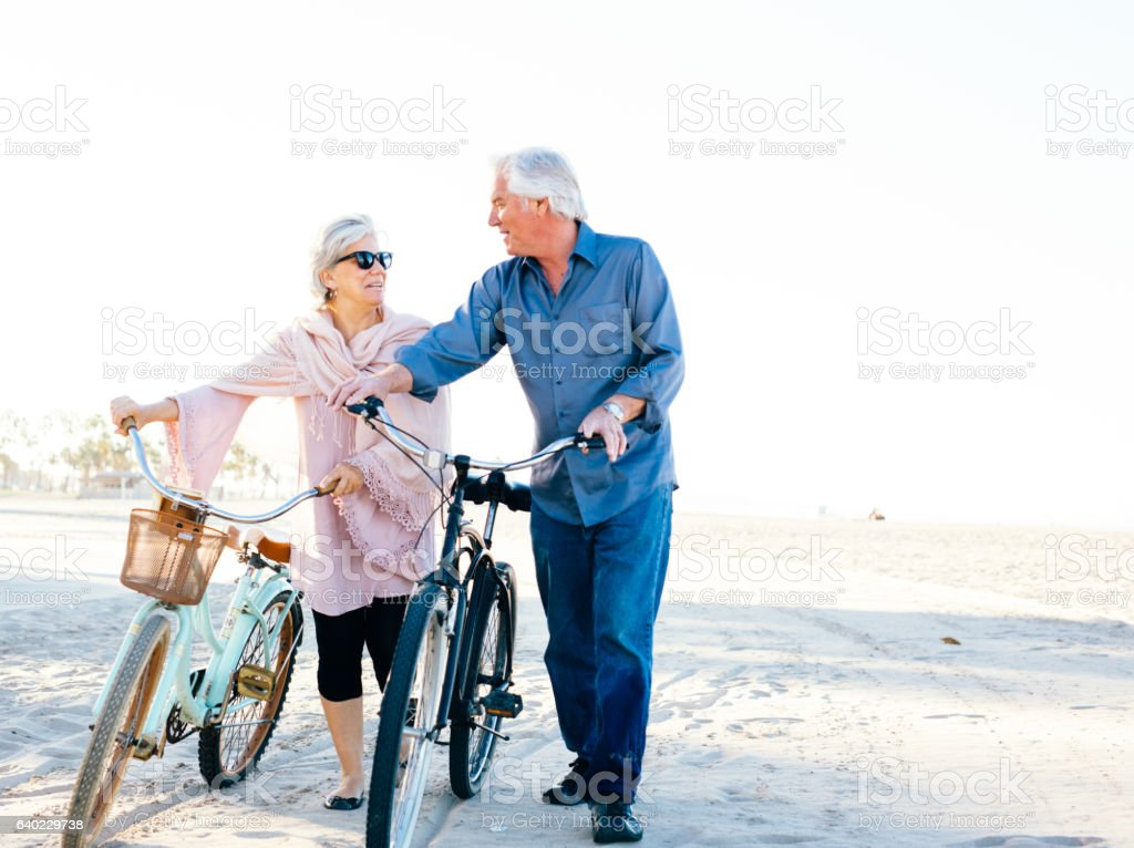 Great vacation for  senior people stock photo