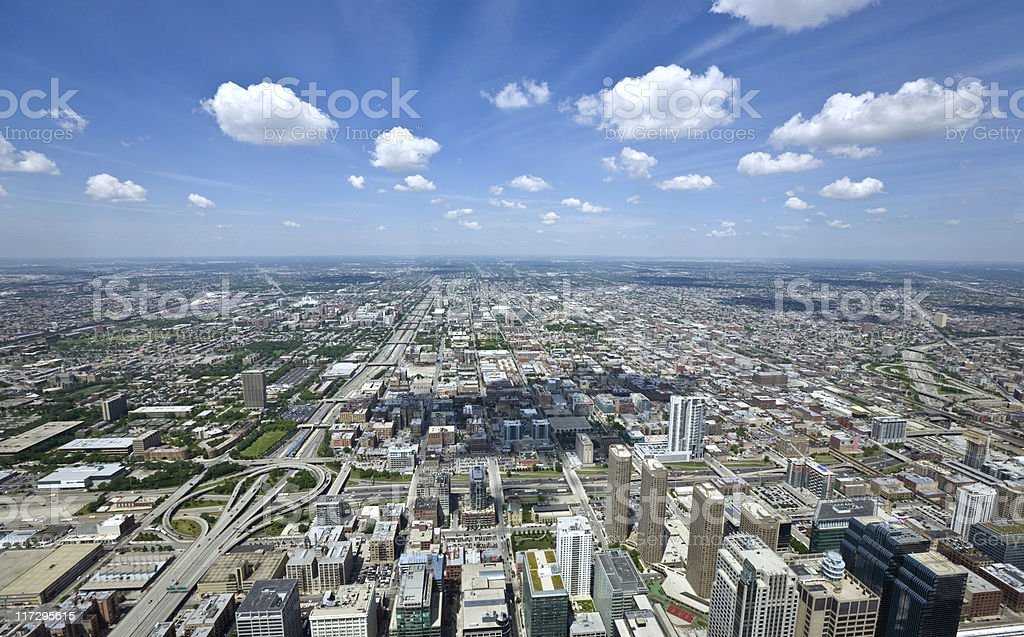 Great View of Chicago from the Sears Tower stock photo