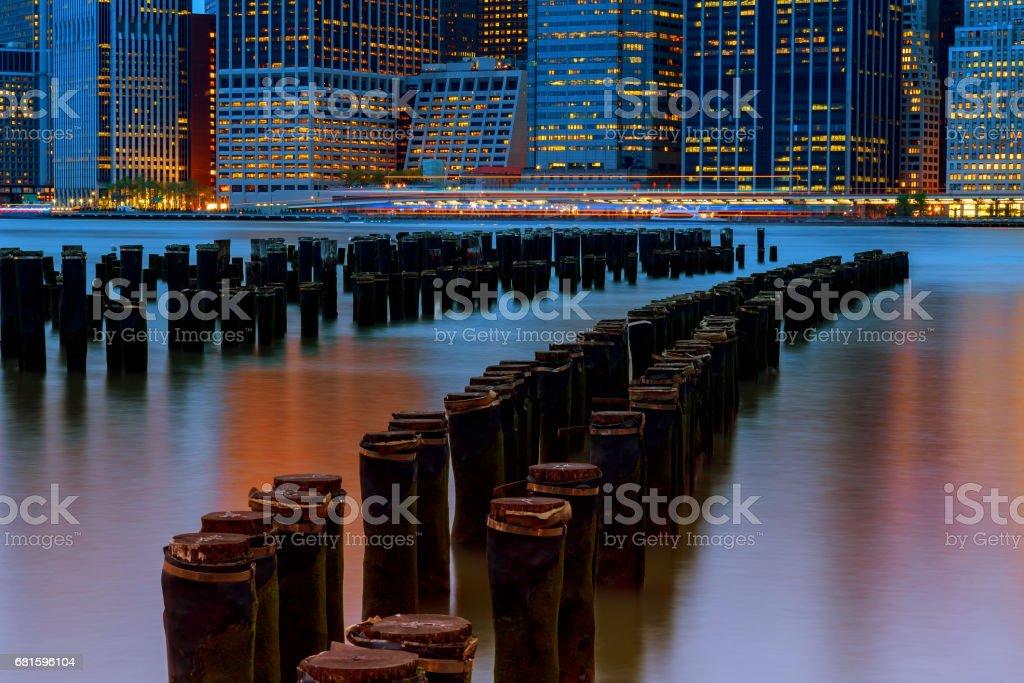 Great view of Manhattan skyline stock photo