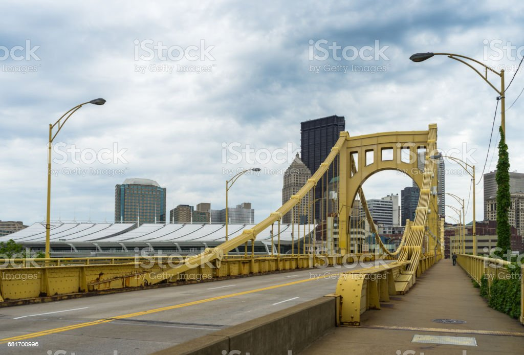 Great View of Pittsburgh - Ninth Street Bridge stock photo