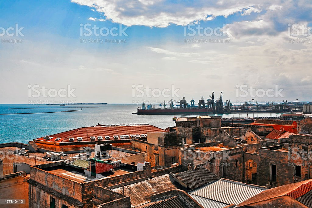 Great view on sea, old town stock photo