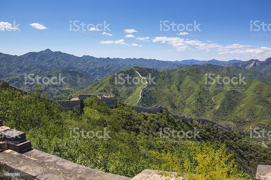 Great Wall at Huanghuacheng stock photo