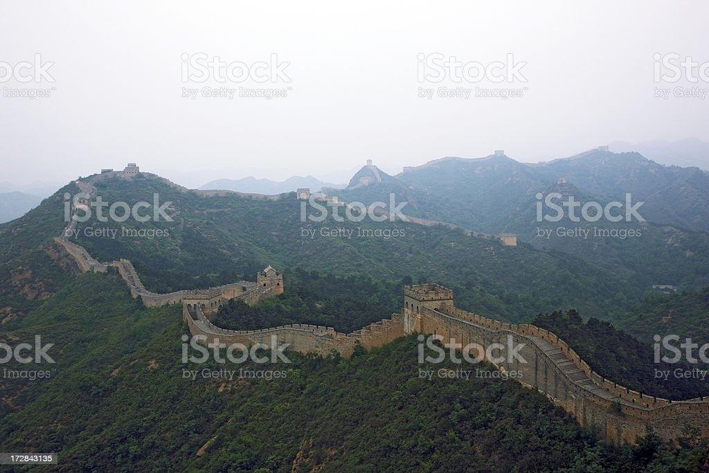 Great Wall at Jinshanlin royalty-free stock photo
