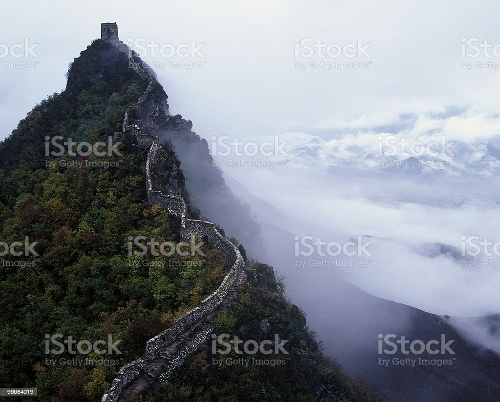 Great Wall at Jinshanling stock photo