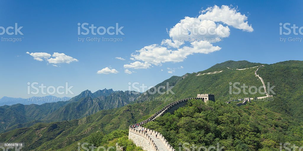 Great wall at Mutianyu stock photo