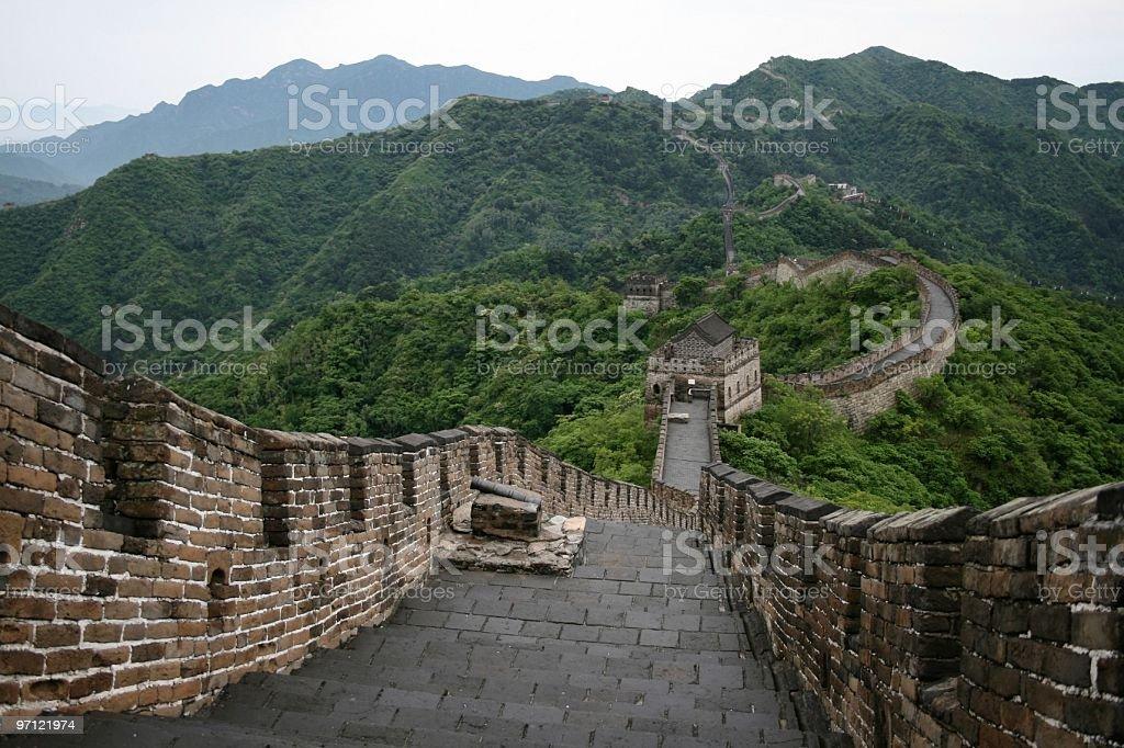 Great Wall at Mutianyu royalty-free stock photo