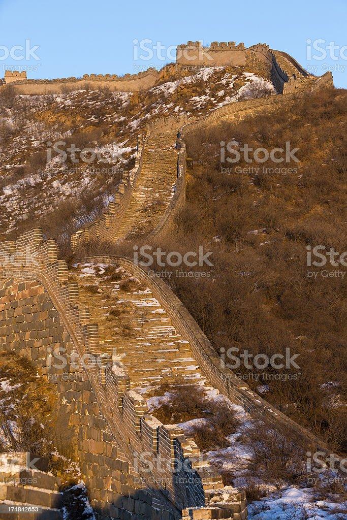 Great Wall at Yanqing royalty-free stock photo