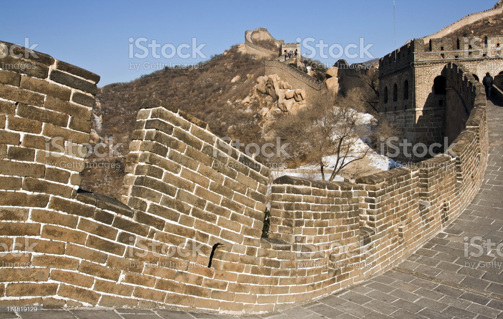 Great Wall, Badaling royalty-free stock photo