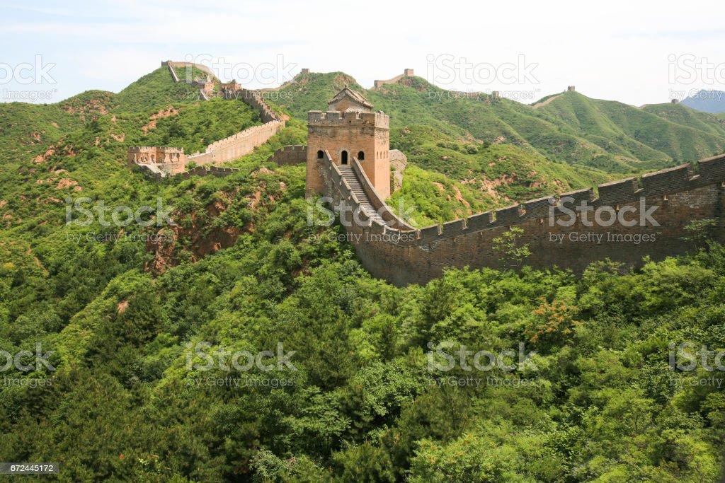 Great Wall between Jinshanling and Simatai, China. stock photo