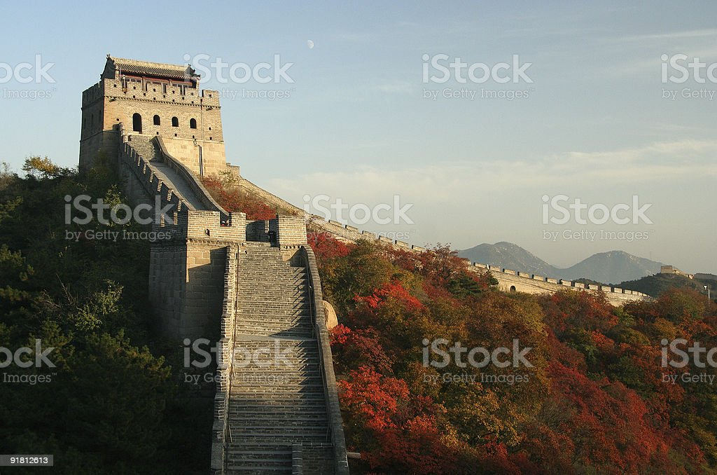 Great wall in China royalty-free stock photo
