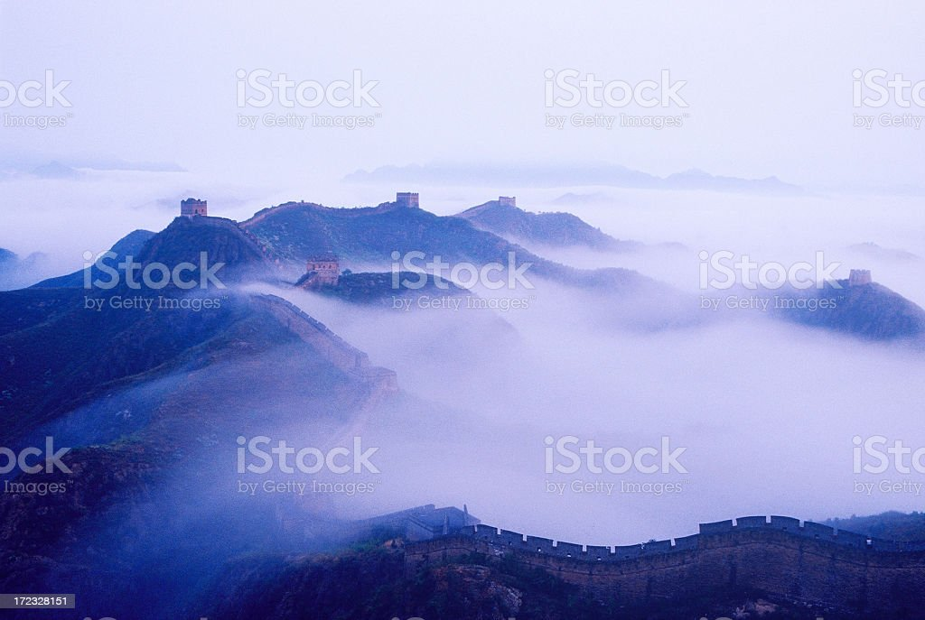Great Wall in Mist royalty-free stock photo
