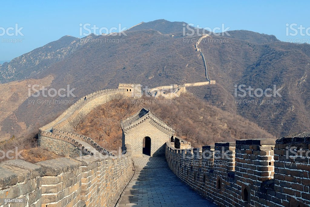 Great Wall in the morning stock photo