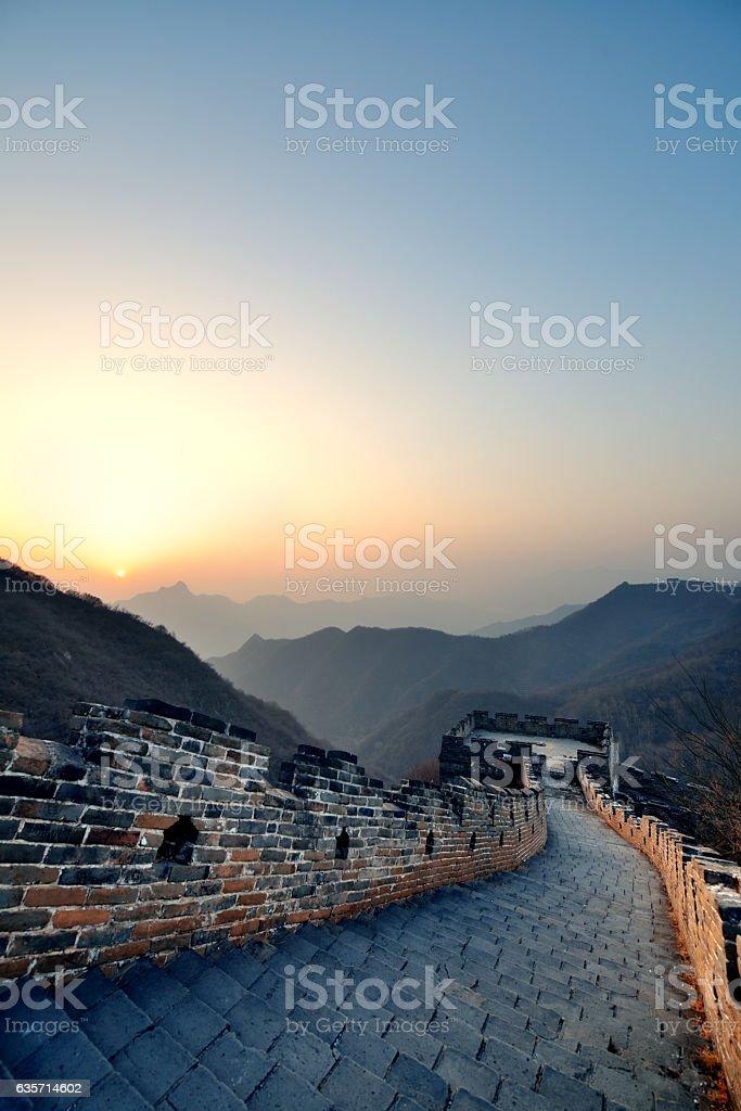 Great Wall morning stock photo